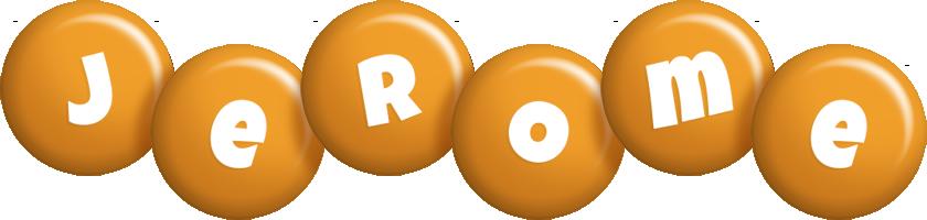 Jerome candy-orange logo