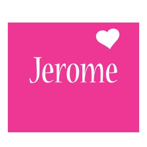 Jerome love-heart logo
