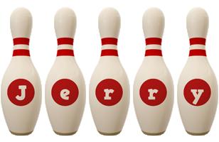 Jerry bowling-pin logo