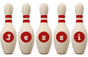 Jessi bowling-pin logo
