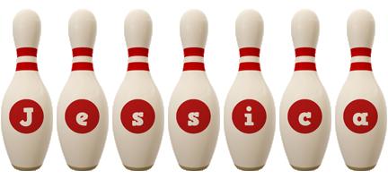 Jessica bowling-pin logo