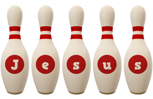 Jesus bowling-pin logo