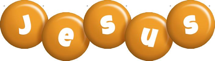 Jesus candy-orange logo