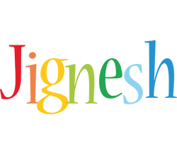 Jignesh birthday logo
