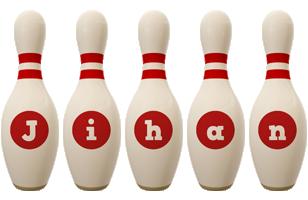 Jihan bowling-pin logo