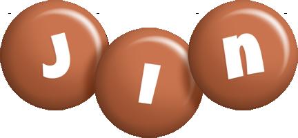 Jin candy-brown logo