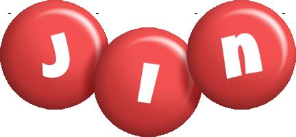 Jin candy-red logo