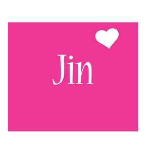 Jin love-heart logo