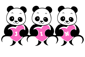 Jin love-panda logo
