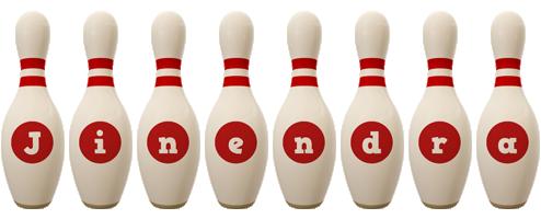 Jinendra bowling-pin logo