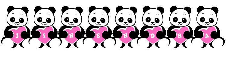 Jinendra love-panda logo