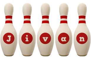 Jivan bowling-pin logo
