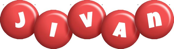 Jivan candy-red logo