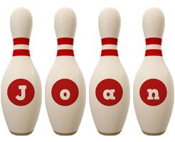 Joan bowling-pin logo