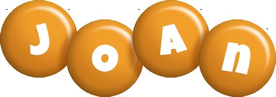 Joan candy-orange logo