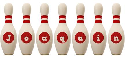Joaquin bowling-pin logo