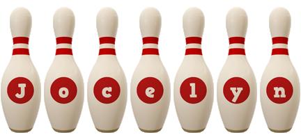 Jocelyn bowling-pin logo