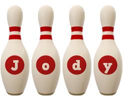 Jody bowling-pin logo