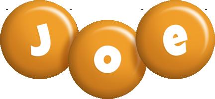 Joe candy-orange logo