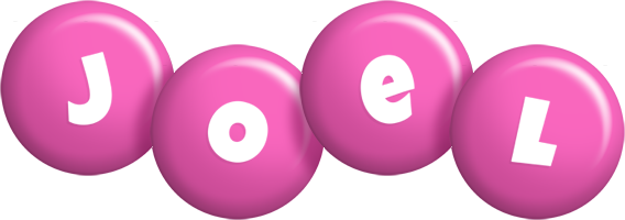 Joel candy-pink logo