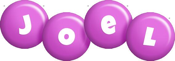 Joel candy-purple logo
