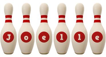 Joelle bowling-pin logo