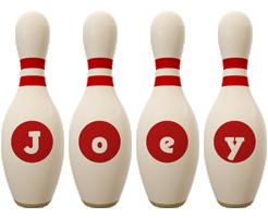 Joey bowling-pin logo
