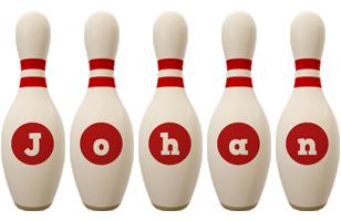 Johan bowling-pin logo