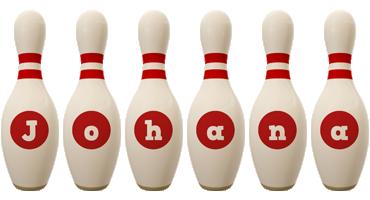 Johana bowling-pin logo
