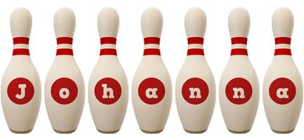 Johanna bowling-pin logo