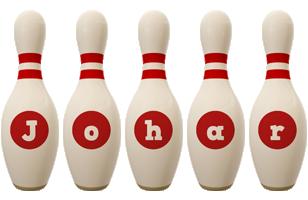 Johar bowling-pin logo
