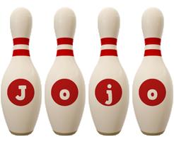 Jojo bowling-pin logo