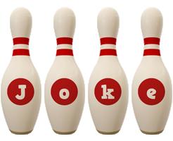 Joke bowling-pin logo