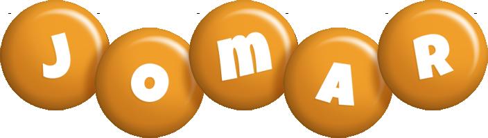 Jomar candy-orange logo