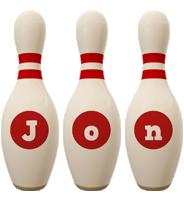 Jon bowling-pin logo