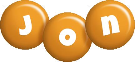 Jon candy-orange logo