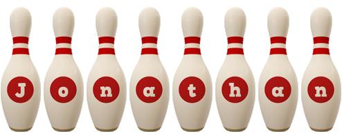 Jonathan bowling-pin logo