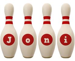 Joni bowling-pin logo