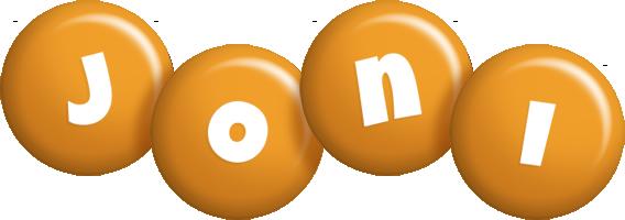 Joni candy-orange logo