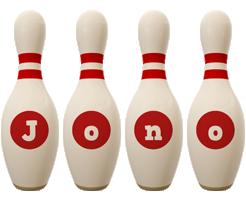 Jono bowling-pin logo
