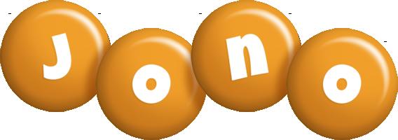 Jono candy-orange logo