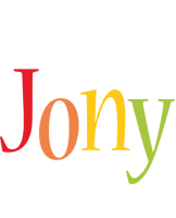 Jony birthday logo