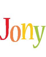 Jony birthday logo