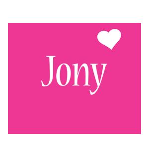 Jony love-heart logo