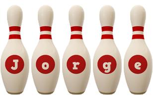 Jorge bowling-pin logo