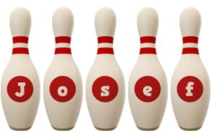 Josef bowling-pin logo
