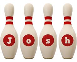Josh bowling-pin logo