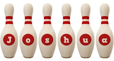 Joshua bowling-pin logo