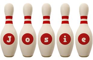 Josie bowling-pin logo