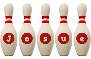 Josue bowling-pin logo